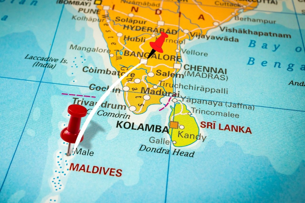 Bangalore to Maldives Map - Distance, Route & Flight Duration