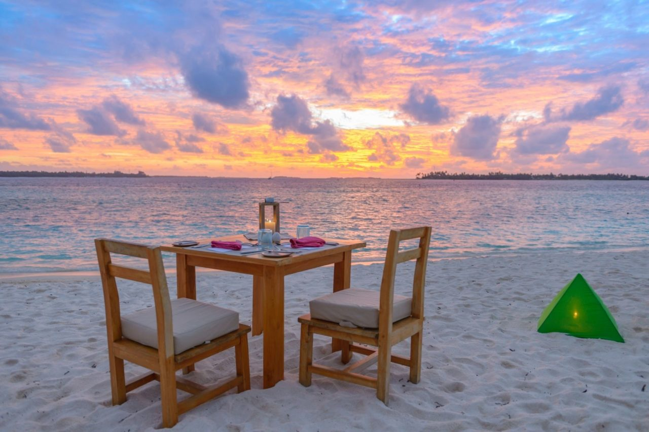 Candle Lit Dinner on the Beach with Maldives Honeymoon Package from Ahmedabad, India