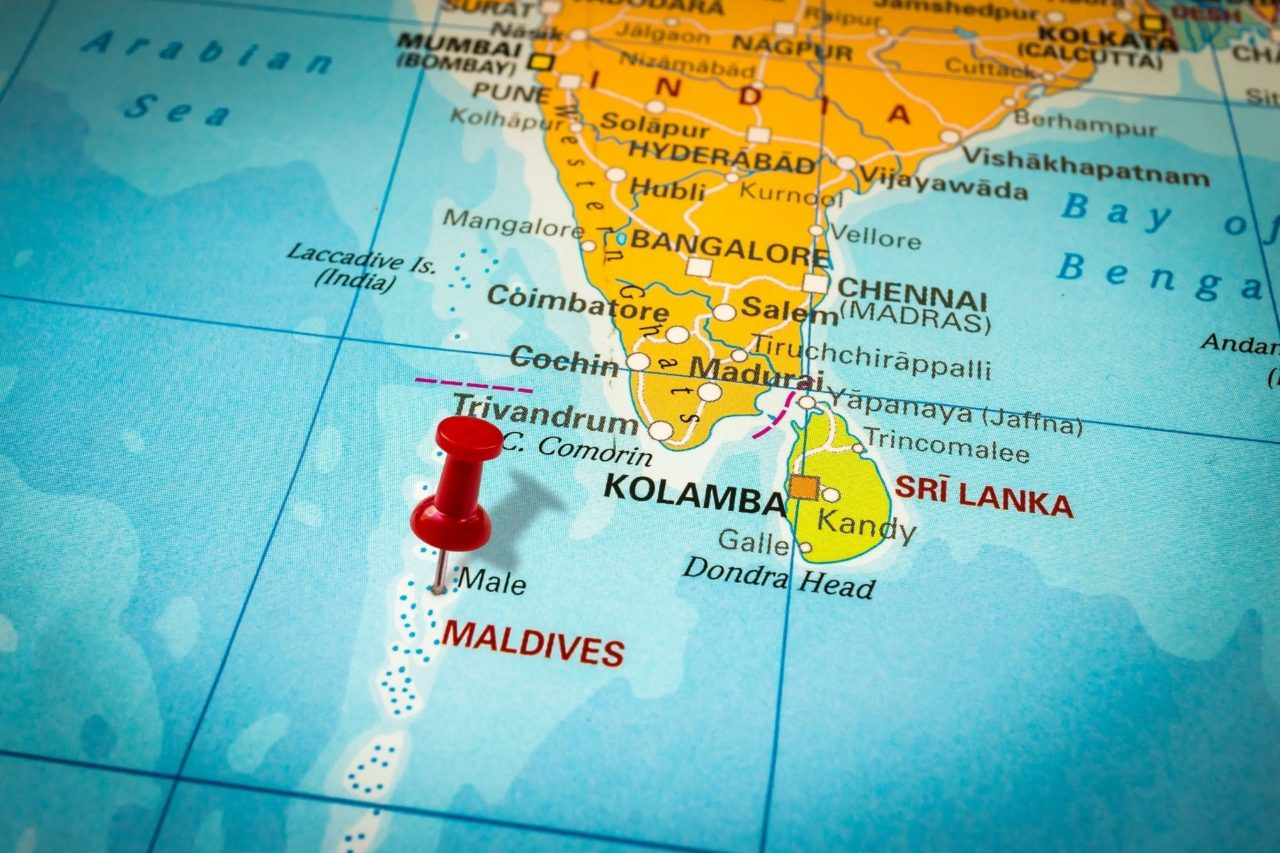 Maldives Map from India