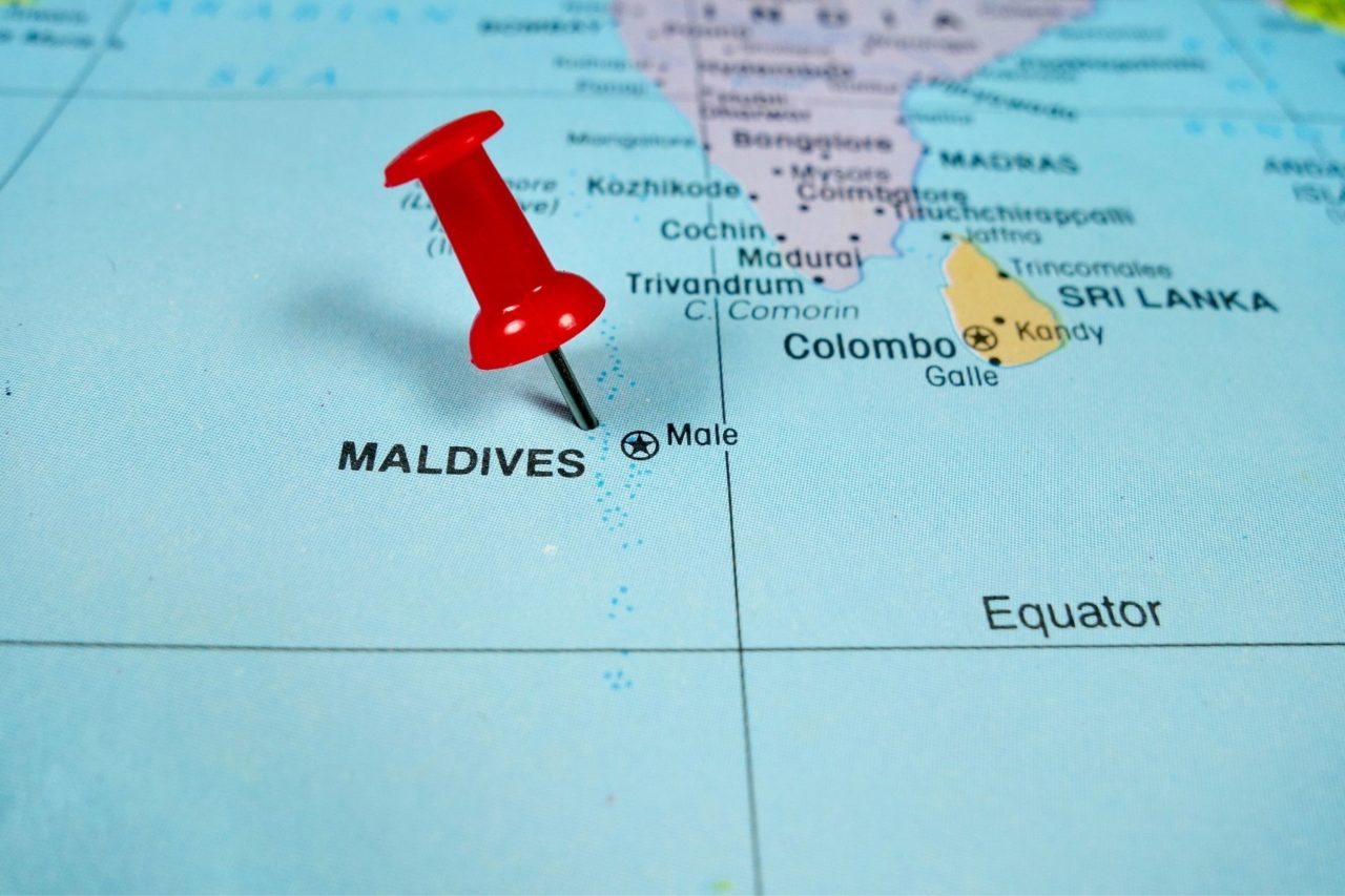 Where is the Maldives Located? Pin point on the World Map?